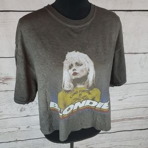 Blondie Oversized Cropped T Shirt Top 90s Grunge